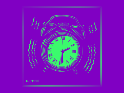 Day 14 | Tick clock app ux ui design logo typography drawing branding vector illustration