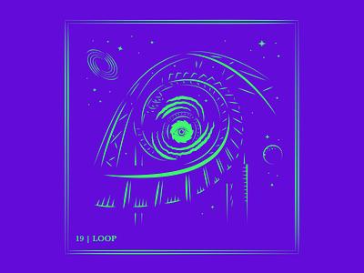 Day 19 | Loop corkscrew loop app ux ui design logo typography drawing branding vector illustration