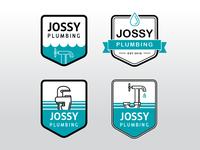 Jossy Plumbing logo options