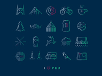 I (Heart) PDX -- Icons Poster (Alternative Color)