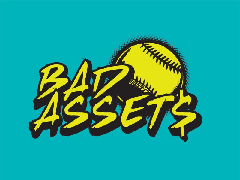 'Bad Assets' Softball softball baseball illustrations logo teams sports