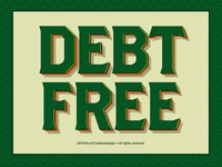 'Debt Free' Sticker