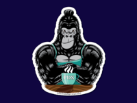 PDX Gorilla Barista Sticker