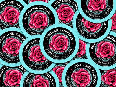 PDX Rose Stickers