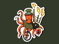 PDX Octopus Unipiper Stickers