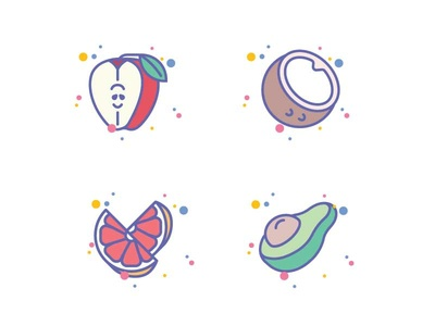 Fruits Icon Set for Jellycons