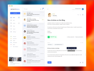 Exploration 002   Email App Dashboard concept dashboard web desktop email mail messaging design app application user ui ux ads
