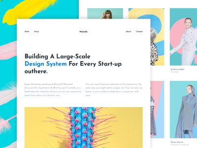 Exploration 005 - Minimal Agency Website app design ui ux typography application pastel minimal page web designers webkit wordpress website creative agency