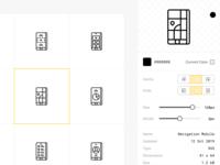 Icons Management Web Application