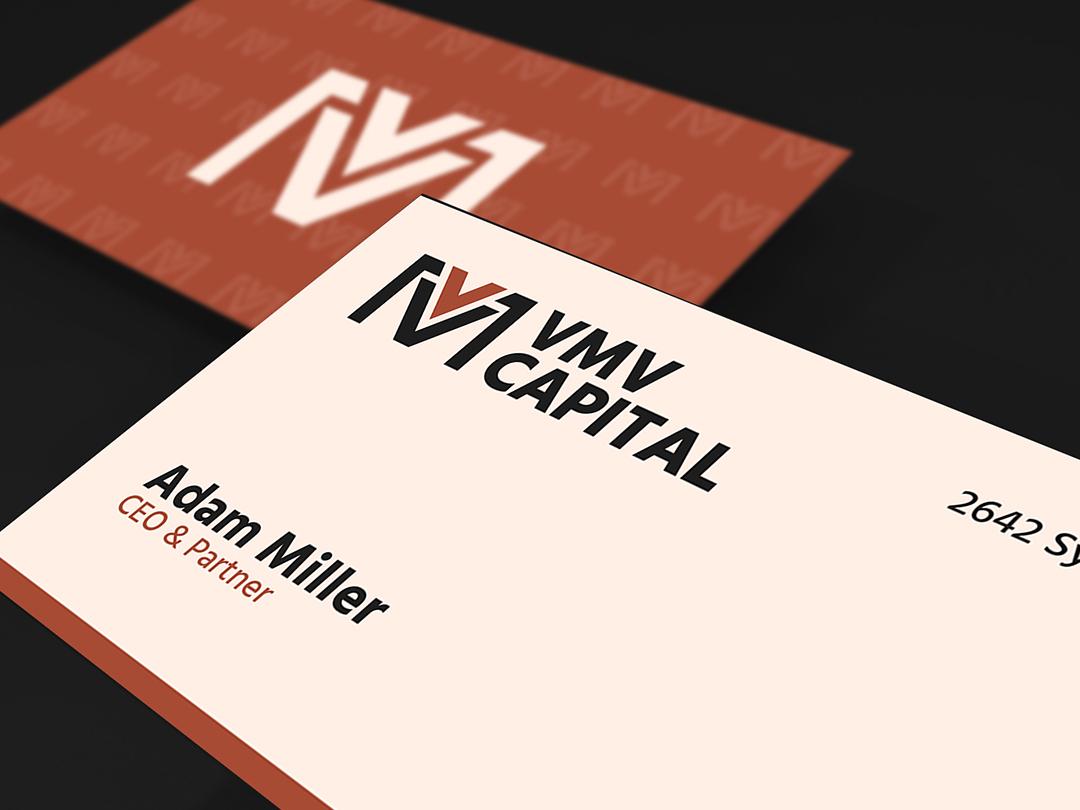 VMV Capital - Business Card business card design business card typography logotype minimalistic logo minimal geometric minimalistic design logo design branding logo design logo graphic design design branding designer branding design branding brand identity designer brand identity design brand identity brand
