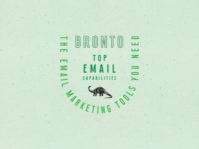 Bronto text type bronto logo badge