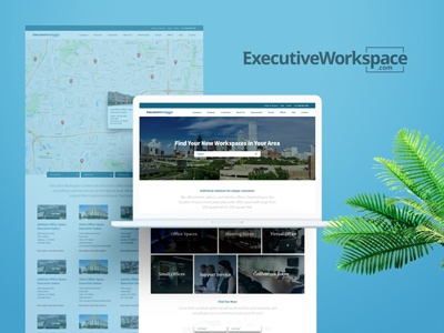 ExecutiveWorkspace final logo and site concept layout design website site logo