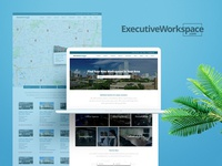 ExecutiveWorkspace final logo and site concept