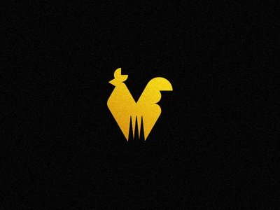 El Gallo chicken mark food logo fork gallo rooster