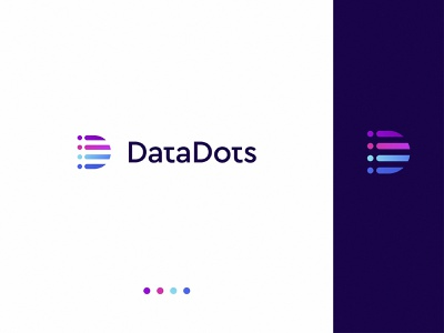 Data Dots Logo Design storage d logo visual identity gradient dots data pravicy secure software cyber ui web typography branding logo identity sketch modern