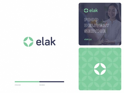 Logo Design for Elak logotype logomark eco brand identity visual identity pattern green star simple branding delivery service delivery food icon design identity illustration sketch modern logo