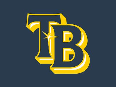 Tampa Bay Rays Primary mlb logo design concept logo design rays tampa bay baseball logo concept branding brand
