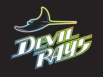 Devil Rays Workmark tampa bay rays logodesign logo concept branding brand baseball
