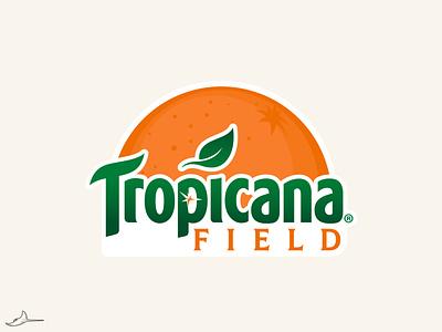 Tropicana Field rays tampa bay branding concept branding logo concept logo baseball field baseball mlb