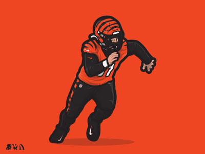 Trey Hendrickson | Cincinnati Bengals illustration character design adobe illustrator sports illustration nflpa nike sports trey hendrickson nike football new stripes sports bengals cincinnati cincinnati bengals nfl