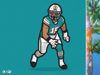Jaelan Phillips | Miami Dolphins miami dolphins nike adidas football nike football sports illustration sports cartoon illustration illustraion miami the u canes football miami hurricanes nfl draft football fins up nfl100
