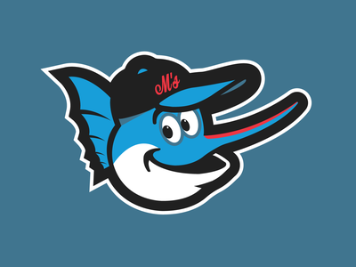 Billy The Marlin mlb billy the marlin marlins miami logo graphic design concept baseball