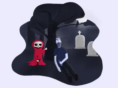 Moonlight and mr. grim reaper
