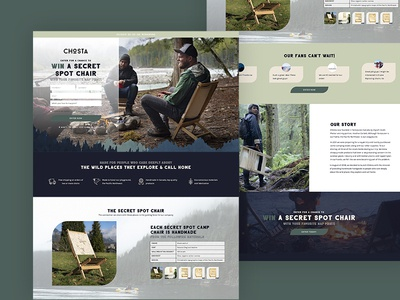 Landing Page for Chosta in Vancouver, BC