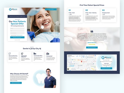 Landing Page for AV Dental in New Jersey,  US