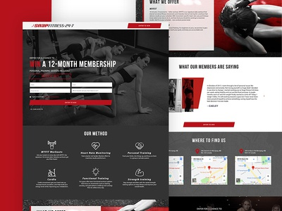 Landing Page for Snap Fitness