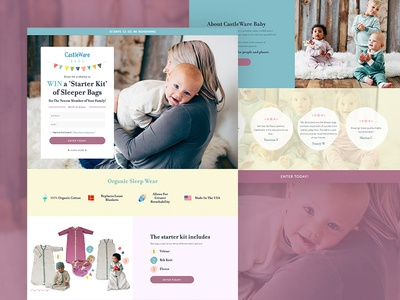 Landing Page for Castleware Baby
