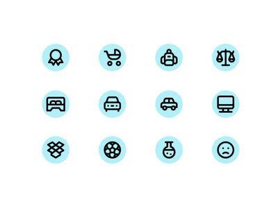 Daily UI Challenge: 055 Icon set
