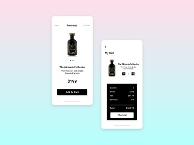 Daily UI Challenge: 058 Shopping Cart shoppingcart website web icon design app ux ui dailyui