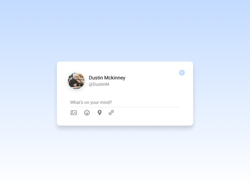 Daily UI Challenge:081 Status Update