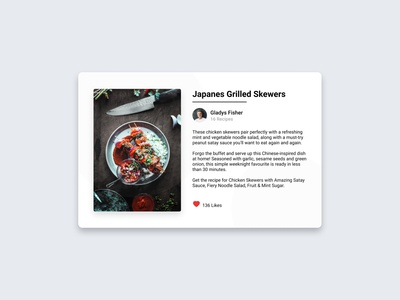 Daily UI Challenge: 040 Recipe