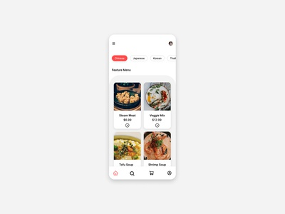 Daily UI Challenge:043 Food/Drink Menu