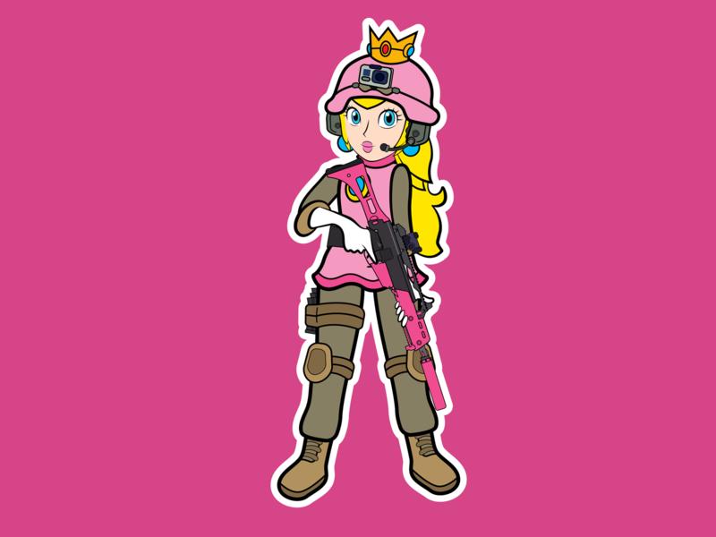 Peach Airsoft nintendo fiverr videogames videogame work design vector adobe illustrator illustration