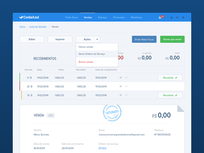 ContaAzul accounting flat web business invoice stamp conta azul contaazul