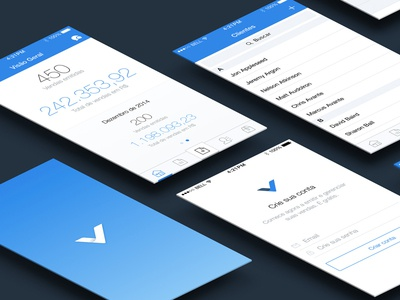 ContaAzul Vendas accounting business flat dashboard data invoice sale branding contaazul saas app mobile