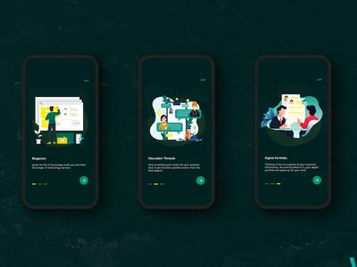 Onboarding Screen illustration ui design product design mobile app uxdesign ui uiux