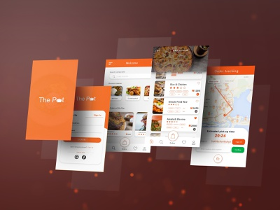 The Pot - Food Ordering App mobile app uxdesign design ux ui-kit ui app
