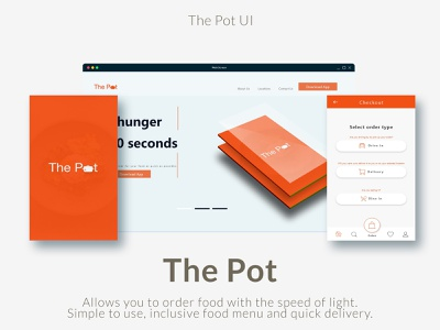 The Pot Ui product design webdesign ui mobile app ux uxdesign design