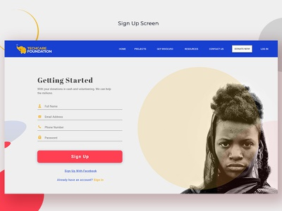 Sign Up Screen Mockup signup ui design product design ui-kit uxdesign app design