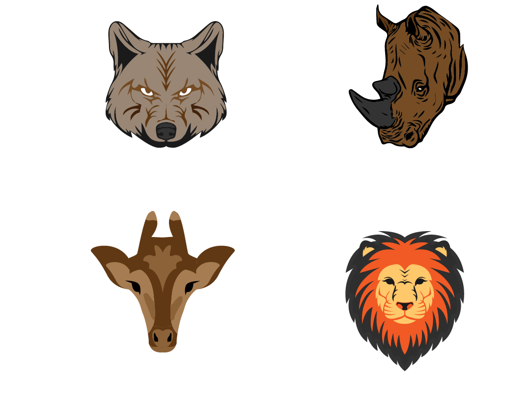 Animal Faces illustration icons lettermark icon vector sumesh app artission good palattecorner illustration typography design branding creative logo