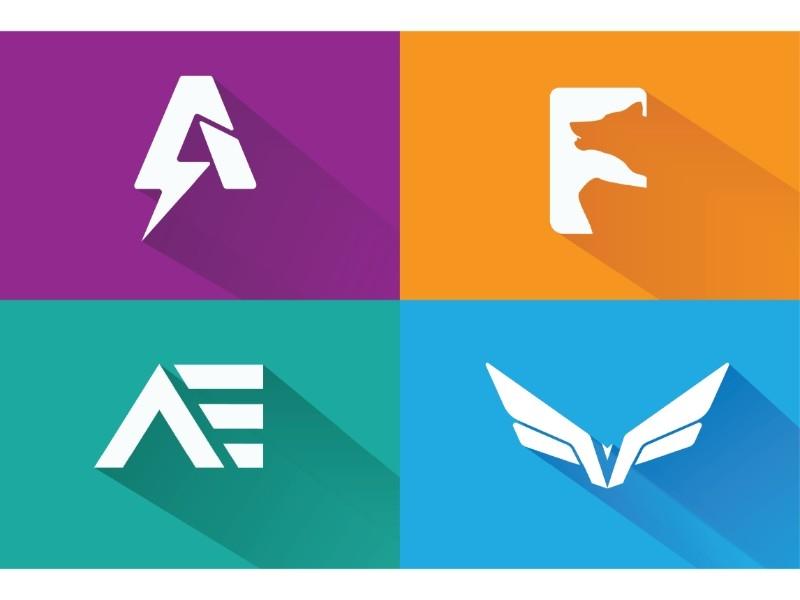letter mark logo set!! ui inspiration minimal branding app flat animation lettermark bold icon vector sumesh artission good palattecorner illustration typography design branding creative logo