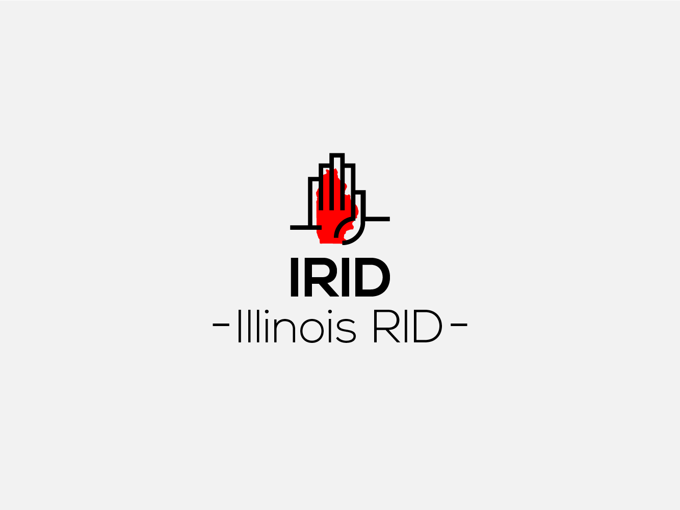 Illinois Rid Branding project logo inspiration letter ux app lettermark sumesh animation flat artission icon bold good vector palattecorner illustration typography design logo creative branding