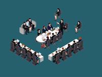Isometric Office meeting!