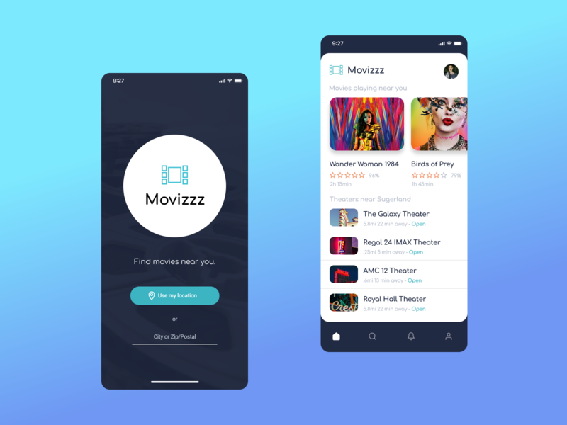 Movizzz App app mobile concept design ux ui