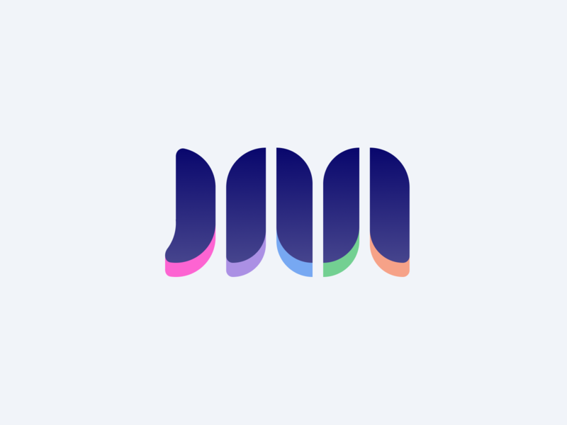 JM Logo ui branding typography icon illustration design color flat clean logo personal brand