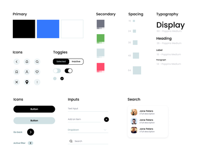 Clean Design System flat web ui ux typography app clean designs design system design branding